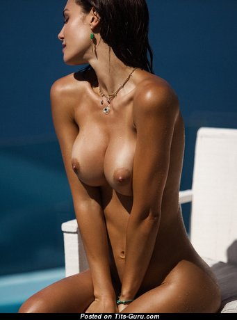 Silvia Caruso - Lovely Topless & Glamour Brunette with Lovely Bare Tight Busts & Inverted Nipples (Hd Sexual Photoshoot)