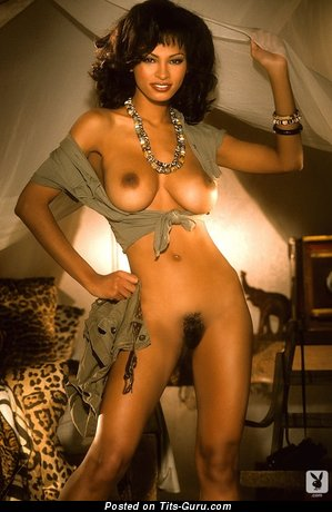 Karin Taylor: sexy naked ebony brunette with medium boobies picture