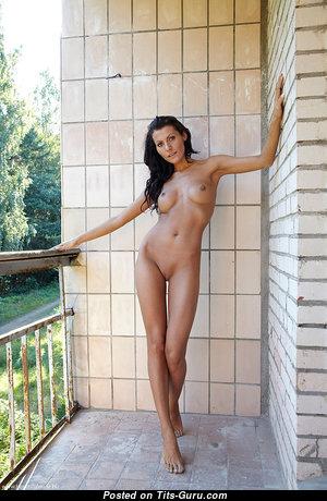 Anna - Elegant Brunette with Elegant Naked Poor Boobs & Sexy Legs (Hd Xxx Wallpaper)