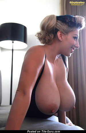 Image. September Carrino - sexy nude blonde with big natural tots pic
