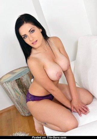 Alex Black - Fine Czech Brunette Pornstar with Fine Defenseless Round Fake Boobies (Porn Foto)