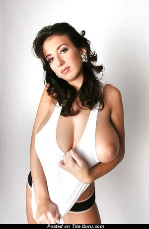 Image. Jana Defi - brunette with huge natural tittes image