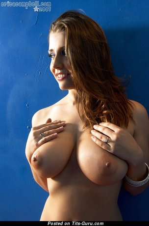 Image. Erica Campbell - beautiful woman with big natural breast photo