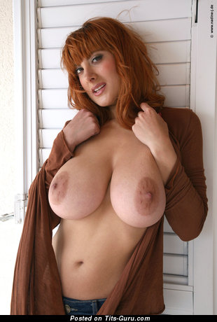Image. Nude red hair with big natural boobs and big nipples picture