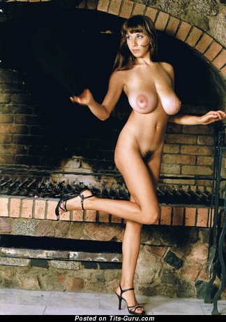 Image. Yulia Nova - sexy naked brunette with big natural tittys photo