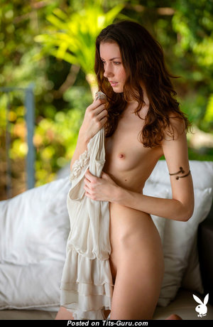 Mikaela McKenna - Exquisite Glamour & Topless Playboy Brunette Actress, Babe & Pornstar with Exquisite Bald Very Small Boobie & Weird Nipples is Undressing (Hd Sexual Picture)