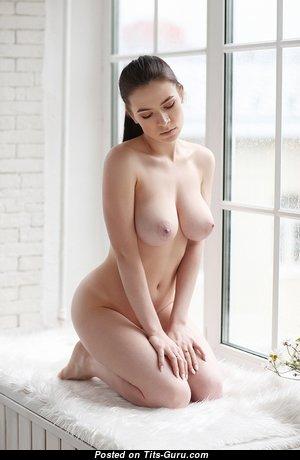 Pleasing Babe with Pleasing Bare Real Medium Sized Boobies (Hd Xxx Photoshoot)