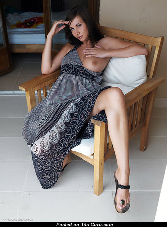Image. Naked beautiful woman with medium natural boobs image