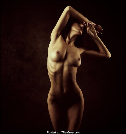 Image. Naked beautiful woman with natural boob image