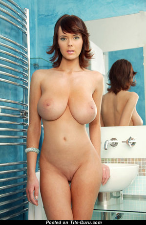 Image. Nude nice girl with huge natural tots image