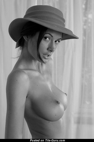Image. Nude brunette with big natural tittys photo