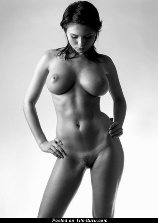 Image. Naked beautiful girl with big natural boob image