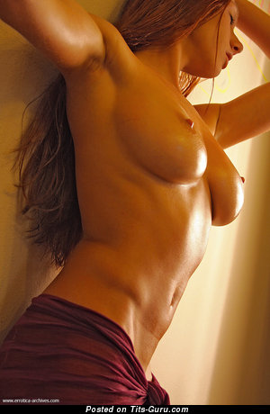 Topless wonderful woman with big nipples picture