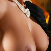 Amazing lady with big natural breast pic