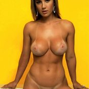 Nude brunette with medium breast picture