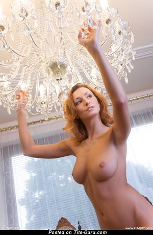 Dominika Johhansen - Perfect Topless & Wet Blonde with Perfect Bald Real Big Sized Tits & Giant Nipples (Hd Sexual Photo)