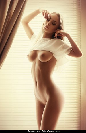 Image. Nude awesome lady with medium natural tits picture