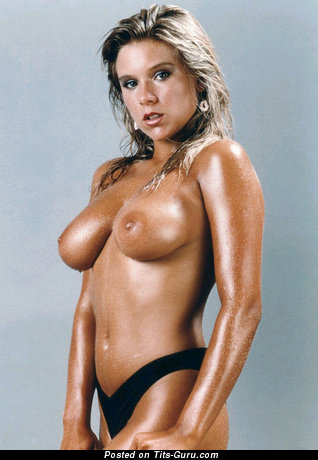 Samantha Fox - Pleasing Wet British Blonde Babe with Pleasing Exposed Real Mid Size Boobies (Vintage Xxx Foto)