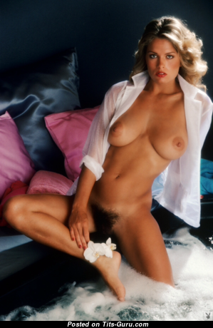Gig Gangel - Pretty Topless American Playboy Blonde with Pretty Defenseless Real Boobs (Porn Pic)