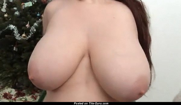 Image. Naked nice female with huge natural tits gif