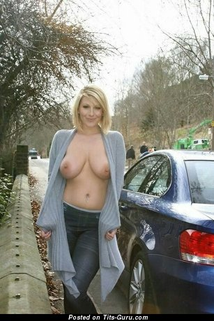 Naked wonderful woman with big natural breast image