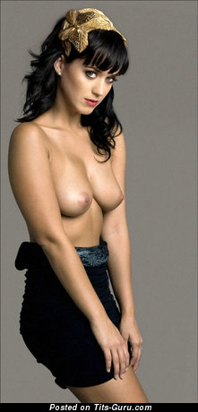 Katy Perry - sexy nude brunette with natural tots picture
