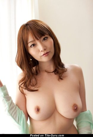 Image. Sexy nude asian red hair with medium natural boobs image