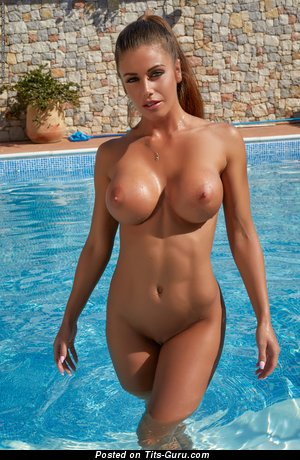 Kitty Tikos - Sexy Hungarian Babe with Amazing Defenseless Fake Medium Sized Busts (Hd Porn Pic)