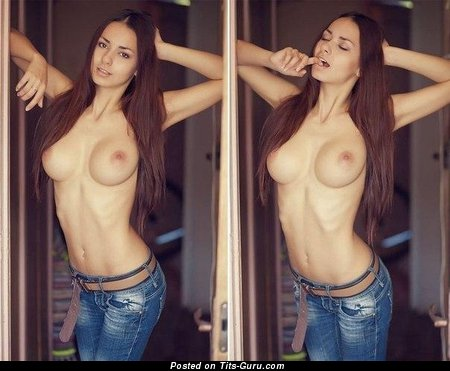 Beautiful Gal with Beautiful Nude Sizable Jugs (Sexual Image)