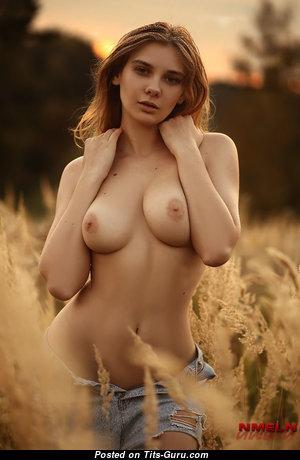 Natasha Tikhomirova - Fascinating Blonde Babe with Fascinating Nude Real Medium Tittes (Hd Porn Photoshoot)