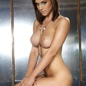 Rosie Jones - brunette with big natural boob picture