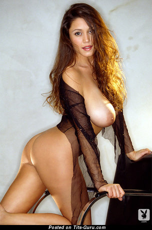Miriam Gonzalez - Delightful Puerto Rican, American Playboy Red Hair with Awesome Open Natural Mega Tits (Sexual Image)