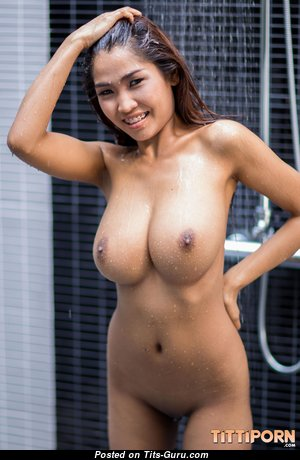 Tittiporn - Amazing Wet Asian Babe & Pornstar with Amazing Defenseless Firm Melons in the Shower (Hd Sexual Pic)