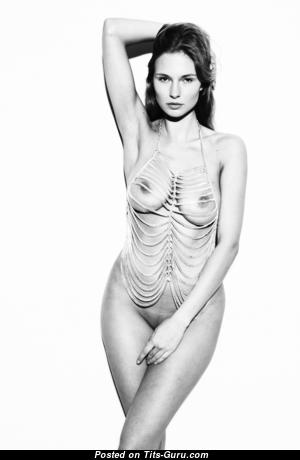 Karolina Szymczak - Delightful Topless Polish Blonde with Delightful Exposed Real Boobies (Sex Photo)