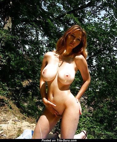 Graceful Babe with Graceful Bare Natural Tight Knockers & Long Nipples (Porn Photoshoot)