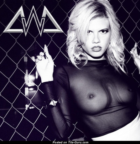 Chanel West Coast - Alluring American Blonde Singer with Alluring Naked Natural Average Tittys & Pointy Nipples (Porn Picture)
