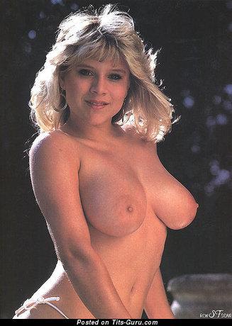 Изображение. Samantha Fox - изображение умопомрачительной обнажённой женщины с большой натуральной грудью