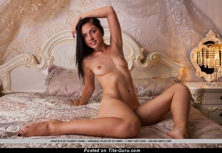 Naked nice female with natural boobies image