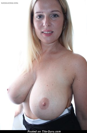 Britney X - Elegant Topless Blonde with Elegant Defenseless Real Ddd Size Tits is Undressing (Hd Porn Pix)