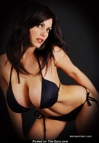 Image. Denise Milani - wonderful woman with huge tittys pic
