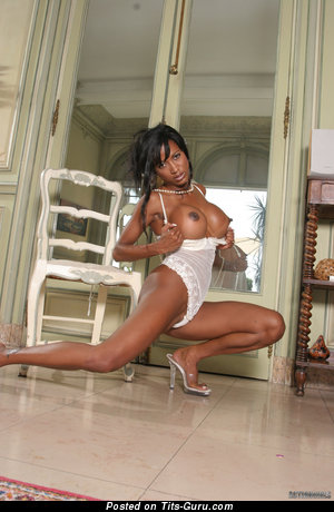 Image. Ameta - naked ebony with big breast image