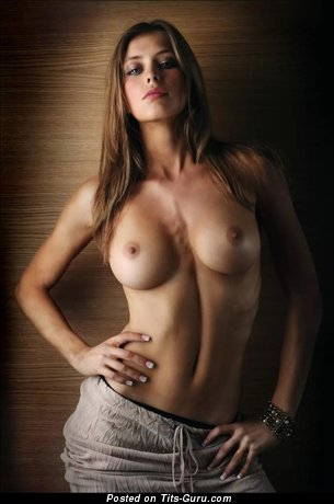 Image. Nude beautiful female with medium tits picture