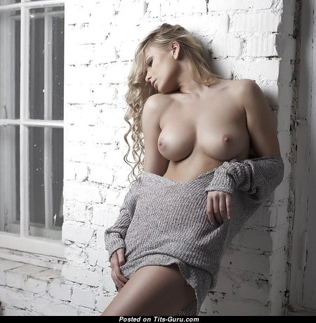 Delightful Babe with Delightful Exposed Natural Soft Titties (Porn Image)
