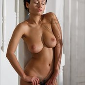 Beautiful girl with big natural breast image