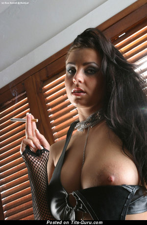 Ewa Sonnet - Pleasing Polish Brunette Babe with Marvelous Defenseless Full Busts (Sex Pic)