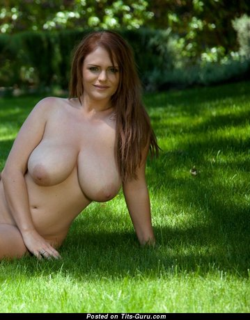 Image. Wonderful female with huge natural boob pic