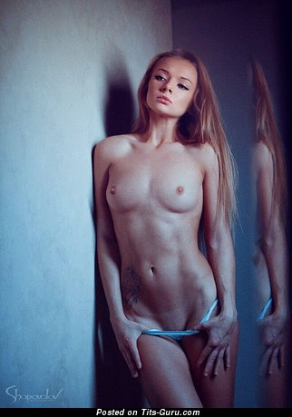 Image. Вероника Рехтина - blonde with small natural boob photo