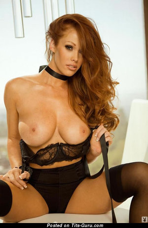 Christine Smith - Pleasing American Playboy Red Hair with Pleasing Bare Soft Tittes (Sexual Wallpaper)