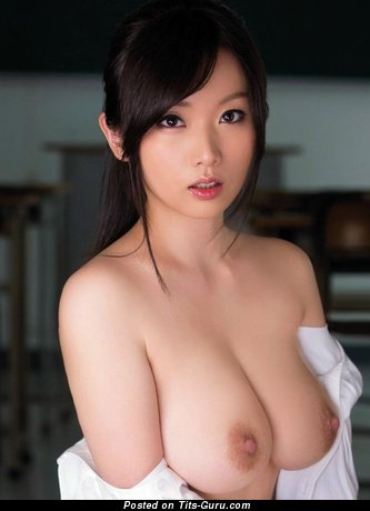 Image. Sexy nude asian brunette with big breast picture