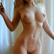 Amazing girl with big natural breast image